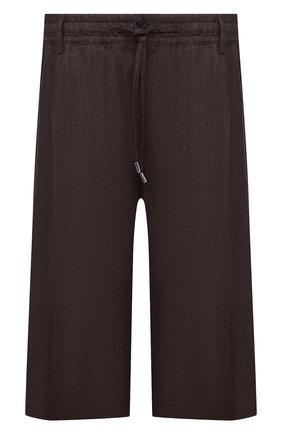 Мужские льняные шорты CORTIGIANI коричневого цвета, арт. 113660/0000/2385/60-70 | Фото 1