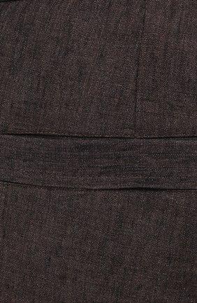 Мужские льняные шорты CORTIGIANI коричневого цвета, арт. 113660/0000/2385/60-70   Фото 5 (Мужское Кросс-КТ: Шорты-одежда; Принт: Без принта; Длина Шорты М: Ниже колена; Материал внешний: Лен; Стили: Кэжуэл)