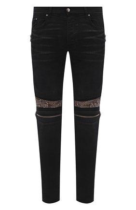 Мужские джинсы AMIRI черного цвета, арт. MDS023-003   Фото 1