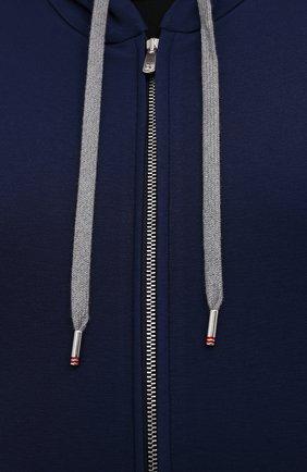 Мужской толстовка из вискозы MARCO PESCAROLO синего цвета, арт. MIKE/4362   Фото 5 (Big sizes: Big Sizes; Рукава: Длинные; Мужское Кросс-КТ: Толстовка-одежда; Длина (для топов): Удлиненные; Стили: Спорт-шик; Материал внешний: Вискоза)