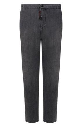 Мужские джинсы MARCO PESCAROLO серого цвета, арт. CHIAIAM/43J08 | Фото 1 (Стили: Кэжуэл; Длина (брюки, джинсы): Стандартные; Материал внешний: Хлопок; Кросс-КТ: Деним; Силуэт М (брюки): Прямые; Big sizes: Big Sizes)