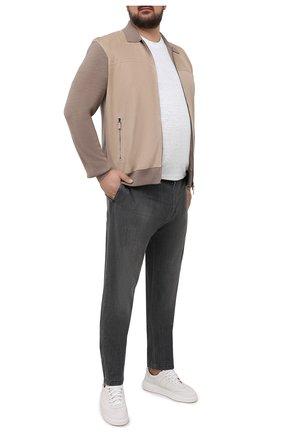 Мужские джинсы MARCO PESCAROLO серого цвета, арт. CHIAIAM/43J08 | Фото 2 (Стили: Кэжуэл; Длина (брюки, джинсы): Стандартные; Материал внешний: Хлопок; Кросс-КТ: Деним; Силуэт М (брюки): Прямые; Big sizes: Big Sizes)