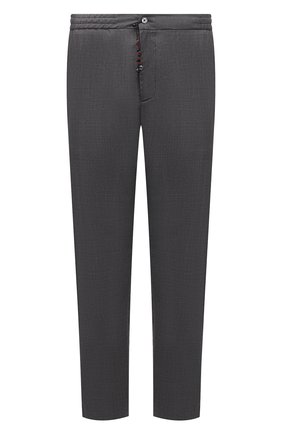 Мужские кашемировые брюки MARCO PESCAROLO серого цвета, арт. CHIAIAM/4334 | Фото 1 (Big sizes: Big Sizes; Материал внешний: Шерсть, Кашемир; Длина (брюки, джинсы): Стандартные; Случай: Повседневный; Стили: Кэжуэл)