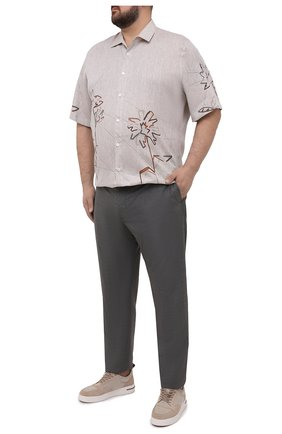 Мужские кашемировые брюки MARCO PESCAROLO серого цвета, арт. CHIAIAM/4334 | Фото 2 (Big sizes: Big Sizes; Материал внешний: Шерсть, Кашемир; Длина (брюки, джинсы): Стандартные; Случай: Повседневный; Стили: Кэжуэл)