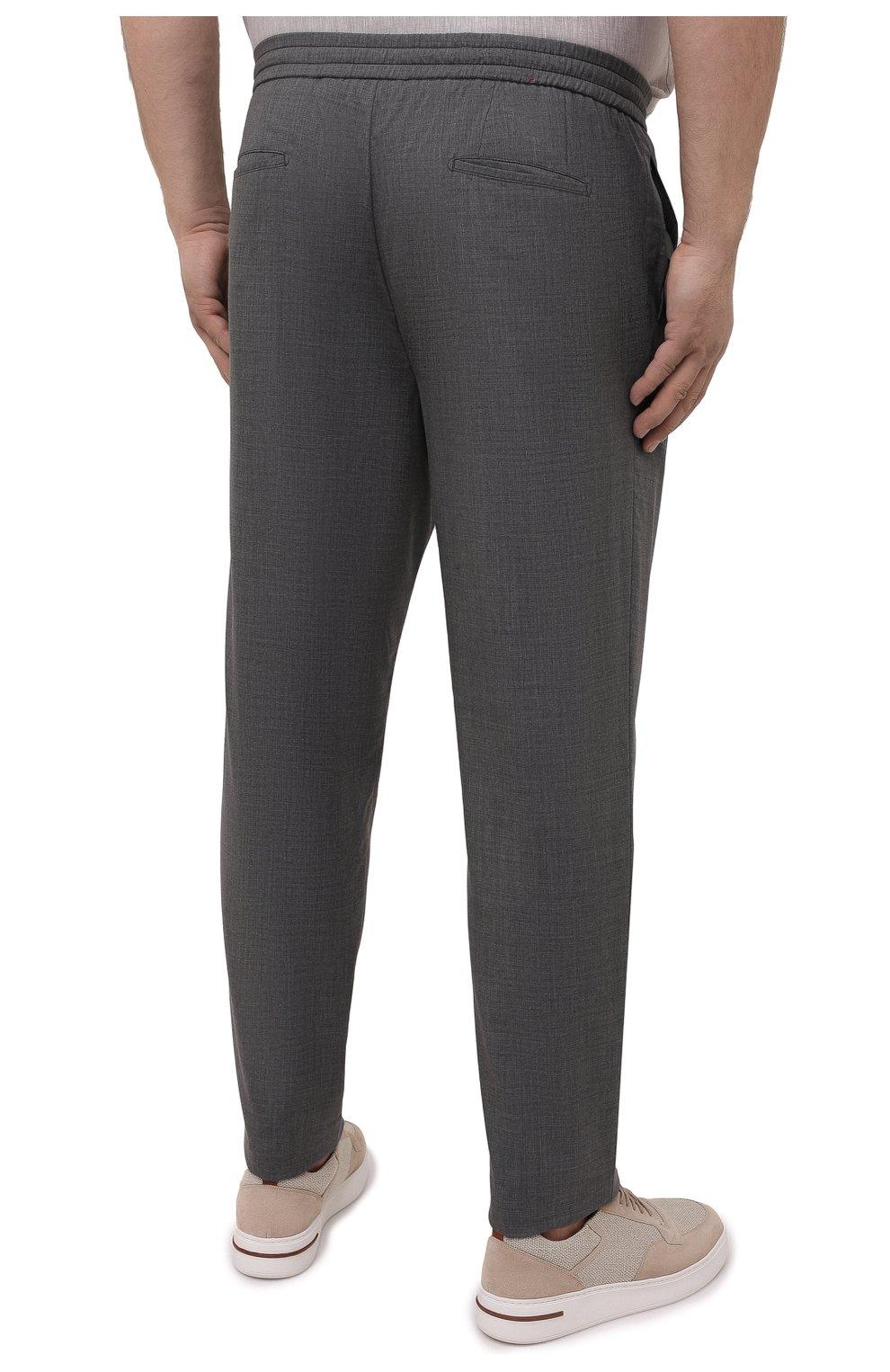 Мужские кашемировые брюки MARCO PESCAROLO серого цвета, арт. CHIAIAM/4334 | Фото 4 (Big sizes: Big Sizes; Материал внешний: Шерсть, Кашемир; Длина (брюки, джинсы): Стандартные; Случай: Повседневный; Стили: Кэжуэл)