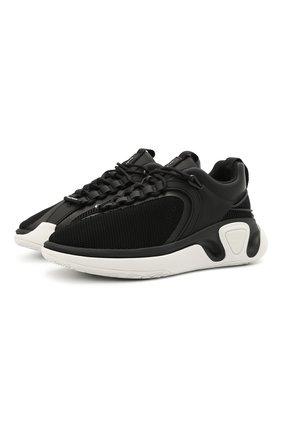 Мужские комбинированные кроссовки b-runner BALMAIN черного цвета, арт. VM0VI261/LSDH | Фото 1