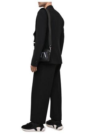 Мужские комбинированные кроссовки b-runner BALMAIN черного цвета, арт. VM0VI261/LSDH | Фото 2