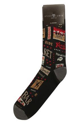 Мужские хлопковые носки STORY LORIS черного цвета, арт. 5137 | Фото 1 (Кросс-КТ: бельё; Материал внешний: Хлопок)