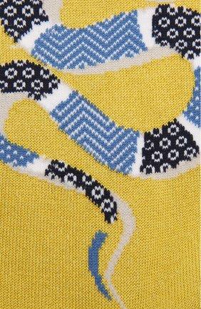 Мужские хлопковые носки STORY LORIS желтого цвета, арт. 5231 | Фото 2 (Кросс-КТ: бельё; Материал внешний: Хлопок)