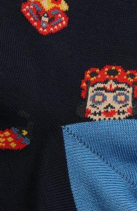 Мужские хлопковые носки STORY LORIS темно-синего цвета, арт. 5409 | Фото 2 (Материал внешний: Хлопок; Кросс-КТ: бельё)