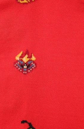 Мужские хлопковые носки STORY LORIS красного цвета, арт. 5409 | Фото 2 (Кросс-КТ: бельё; Материал внешний: Хлопок)