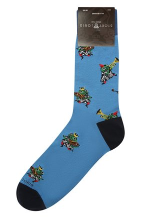 Мужские носки STORY LORIS синего цвета, арт. 5433 | Фото 1 (Материал внешний: Синтетический материал, Хлопок; Кросс-КТ: бельё)