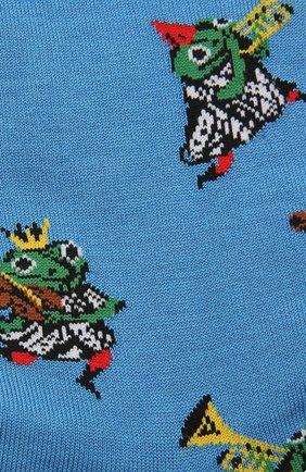 Мужские носки STORY LORIS синего цвета, арт. 5433 | Фото 2 (Материал внешний: Синтетический материал, Хлопок; Кросс-КТ: бельё)