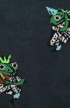 Мужские носки STORY LORIS темно-зеленого цвета, арт. 5433 | Фото 2 (Материал внешний: Хлопок, Синтетический материал; Кросс-КТ: бельё)