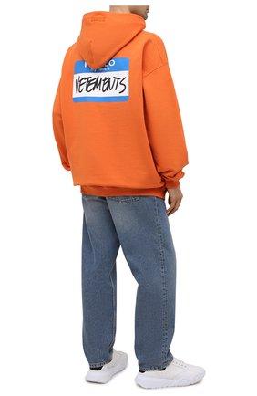 Мужской хлопковое худи VETEMENTS оранжевого цвета, арт. UA52TR710X 1601/M | Фото 2
