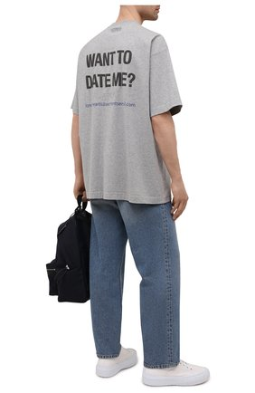 Мужская хлопковая футболка VETEMENTS серого цвета, арт. UA52TR520G 1610/M | Фото 2