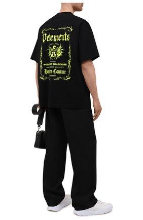Мужская хлопковая футболка VETEMENTS черного цвета, арт. UA52TR480X 1610/M | Фото 2