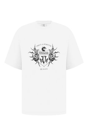 Мужская хлопковая футболка VETEMENTS белого цвета, арт. UA52TR480W 1610/M | Фото 1