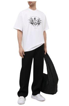 Мужская хлопковая футболка VETEMENTS белого цвета, арт. UA52TR480W 1610/M | Фото 2