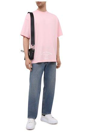 Мужская хлопковая футболка VETEMENTS розового цвета, арт. UA52TR270P 1610/M | Фото 2