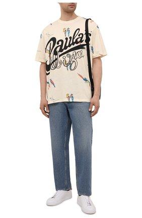 Мужская хлопковая футболка loewe x paula's ibiza LOEWE бежевого цвета, арт. H616Y22X17 | Фото 2