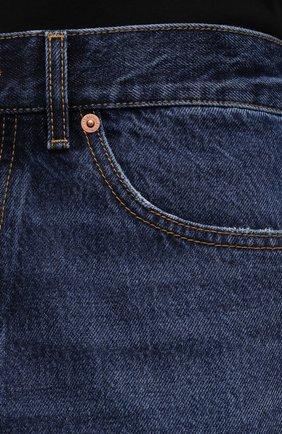 Мужские джинсы VALENTINO темно-синего цвета, арт. WV3DE01T7LE | Фото 5 (Силуэт М (брюки): Прямые; Длина (брюки, джинсы): Стандартные; Материал внешний: Хлопок, Деним; Стили: Кэжуэл)
