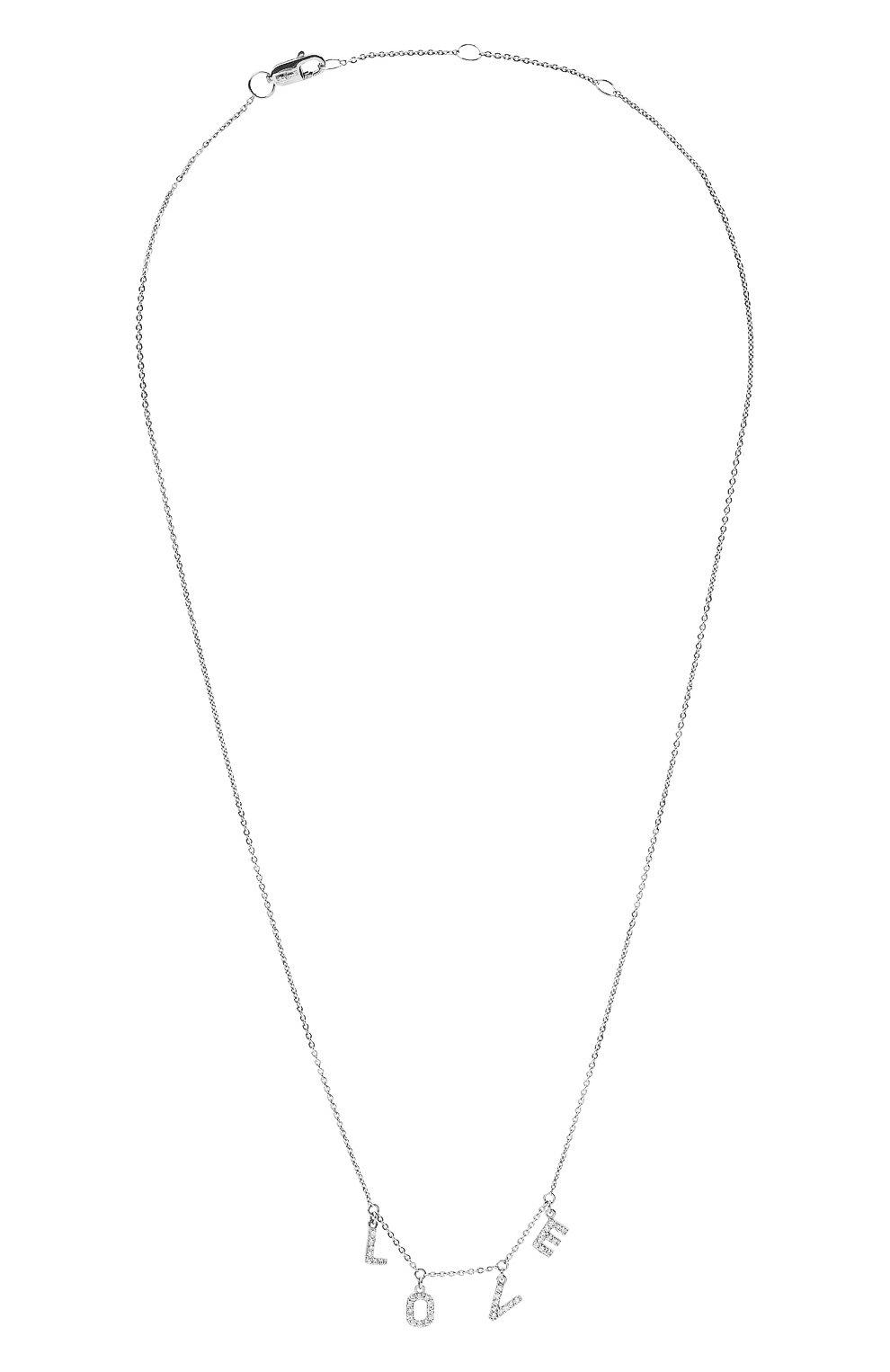 Женское колье love J-POINT серебряного цвета, арт. ИПГ857.32.090421.8W | Фото 1 (Материал: Золото)
