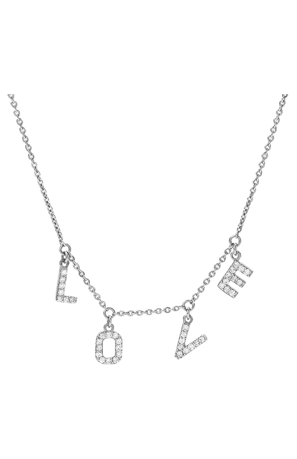 Женское колье love J-POINT серебряного цвета, арт. ИПГ857.32.090421.8W | Фото 2 (Материал: Золото)
