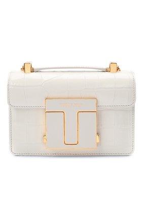 Женская сумка 001 small TOM FORD белого цвета, арт. L1384E-LCL150 | Фото 1 (Размер: small; Сумки-технические: Сумки через плечо; Женское Кросс-КТ: Вечерняя сумка; Ремень/цепочка: С цепочкой, На ремешке; Материал: Натуральная кожа)