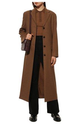 Женские кожаные пенни-лоферы SANTONI черного цвета, арт. WUCU59020HL1NLESN01 | Фото 2