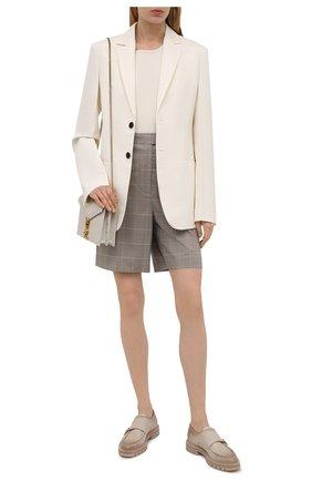 Женская кожаные монки SANTONI бежевого цвета, арт. WUCU59605HL1NLGAE32 | Фото 2