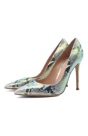 Женские кожаные туфли gianvito 105 GIANVITO ROSSI разноцветного цвета, арт. G28470.15RIC.KA0H0L0 | Фото 1