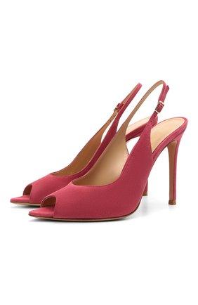 Женские замшевые босоножки martina 105 GIANVITO ROSSI розового цвета, арт. G31682.15RIC.CAMHIBI | Фото 1