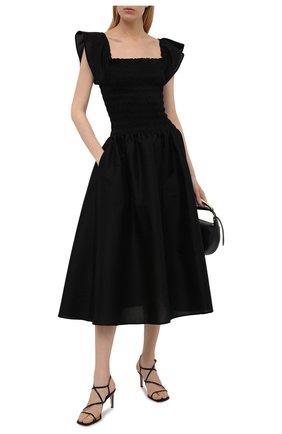Женские кожаные босоножки GIANVITO ROSSI черного цвета, арт. G32063.70RIC.NAPNER0 | Фото 2