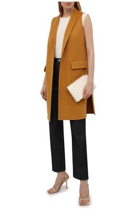 Женский кашемировый жилет LORO PIANA горчичного цвета, арт. FAG3518   Фото 2 (Материал внешний: Шерсть, Кашемир; Стили: Кэжуэл; Женское Кросс-КТ: Жилет-одежда; Длина (верхняя одежда): До середины бедра)