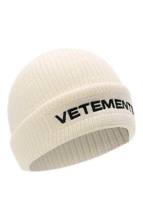Женская шерстяная шапка VETEMENTS кремвого цвета, арт. UA52KN300W 2901/W | Фото 1