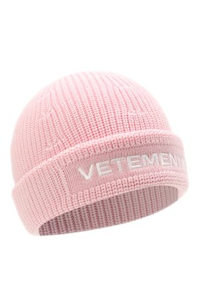 Женская шерстяная шапка VETEMENTS светло-розового цвета, арт. UA52KN300P 2901/W | Фото 1