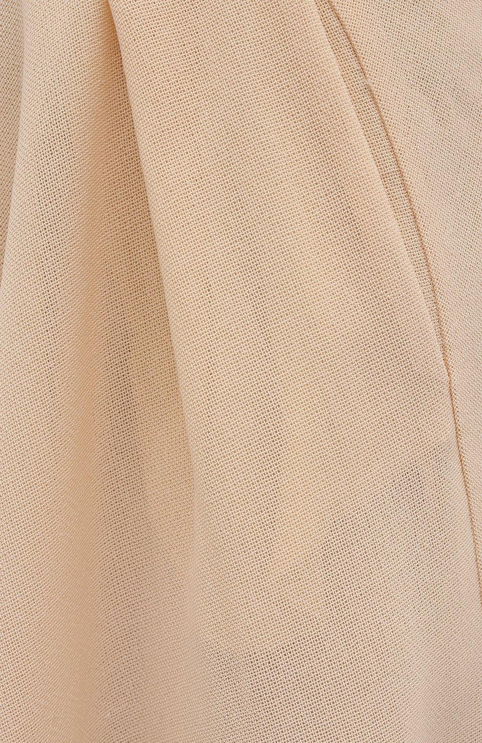 Женские шерстяные шорты PETAR PETROV кремвого цвета, арт. PANCY SR21H10 | Фото 5 (Женское Кросс-КТ: Шорты-одежда; Материал внешний: Шерсть; Кросс-КТ: Широкие; Длина Ж (юбки, платья, шорты): До колена; Стили: Романтичный; Материал подклада: Шелк)