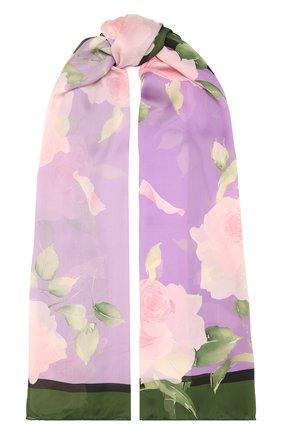 Женский шелковый шарф  VALENTINO сиреневого цвета, арт. VW0ED007/PPZ | Фото 1