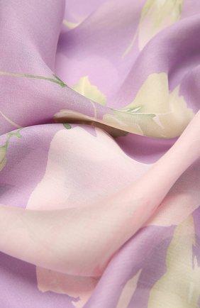 Женский шелковый шарф  VALENTINO сиреневого цвета, арт. VW0ED007/PPZ | Фото 2
