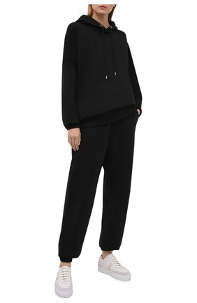 Женские хлопковые джоггеры HERON PRESTON FOR CALVIN KLEIN черного цвета, арт. K10K108244   Фото 2 (Длина (брюки, джинсы): Удлиненные; Женское Кросс-КТ: Джоггеры - брюки, Брюки-спорт; Силуэт Ж (брюки и джинсы): Джоггеры; Материал внешний: Хлопок; Стили: Спорт-шик)