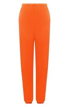 Женские хлопковые джоггеры HERON PRESTON FOR CALVIN KLEIN оранжевого цвета, арт. K10K108244 | Фото 1 (Женское Кросс-КТ: Брюки-спорт, Джоггеры - брюки; Длина (брюки, джинсы): Удлиненные; Материал внешний: Хлопок; Стили: Спорт-шик; Силуэт Ж (брюки и джинсы): Джоггеры)