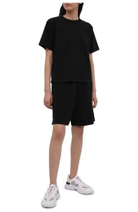 Женские хлопковые шорты HERON PRESTON FOR CALVIN KLEIN черного цвета, арт. K10K108245 | Фото 2 (Материал внешний: Хлопок; Стили: Спорт-шик; Женское Кросс-КТ: Шорты-одежда, Шорты-спорт; Длина Ж (юбки, платья, шорты): Мини)
