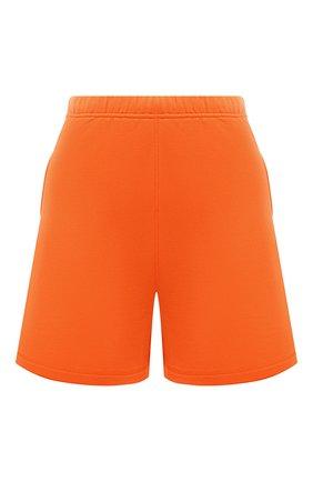 Женские хлопковые шорты HERON PRESTON FOR CALVIN KLEIN оранжевого цвета, арт. K10K108245 | Фото 1 (Женское Кросс-КТ: Шорты-спорт, Шорты-одежда; Материал внешний: Хлопок; Длина Ж (юбки, платья, шорты): Мини)