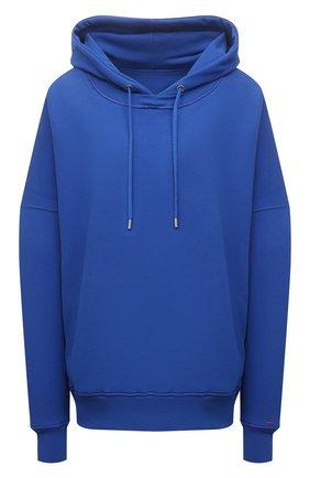 Женский хлопковое худи HERON PRESTON FOR CALVIN KLEIN синего цвета, арт. K10K108247 | Фото 1 (Женское Кросс-КТ: Худи-спорт, Худи-одежда; Длина (для топов): Стандартные; Рукава: Длинные; Материал внешний: Хлопок; Стили: Спорт-шик)