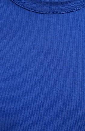 Женская хлопковая футболка HERON PRESTON FOR CALVIN KLEIN синего цвета, арт. K10K108252 | Фото 5 (Женское Кросс-КТ: Футболка-спорт; Принт: Без принта; Рукава: Короткие; Длина (для топов): Стандартные; Материал внешний: Хлопок; Стили: Спорт-шик)