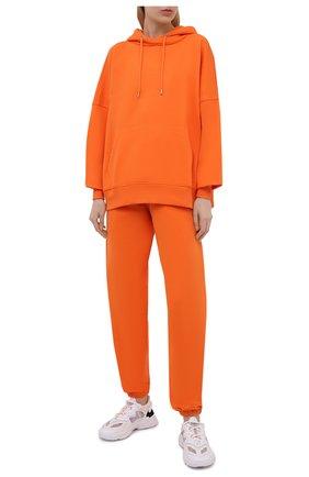 Женские хлопковые джоггеры HERON PRESTON FOR CALVIN KLEIN оранжевого цвета, арт. K20K203537   Фото 2