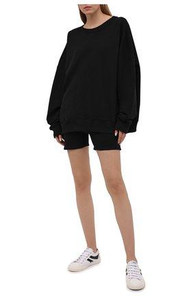 Женские хлопковые шорты HERON PRESTON FOR CALVIN KLEIN черного цвета, арт. K20K203538   Фото 2