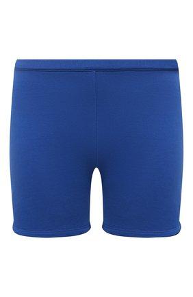 Женские хлопковые шорты HERON PRESTON FOR CALVIN KLEIN синего цвета, арт. K20K203538 | Фото 1 (Женское Кросс-КТ: Шорты-спорт, Шорты-одежда; Длина Ж (юбки, платья, шорты): Мини; Стили: Спорт-шик; Материал внешний: Хлопок)