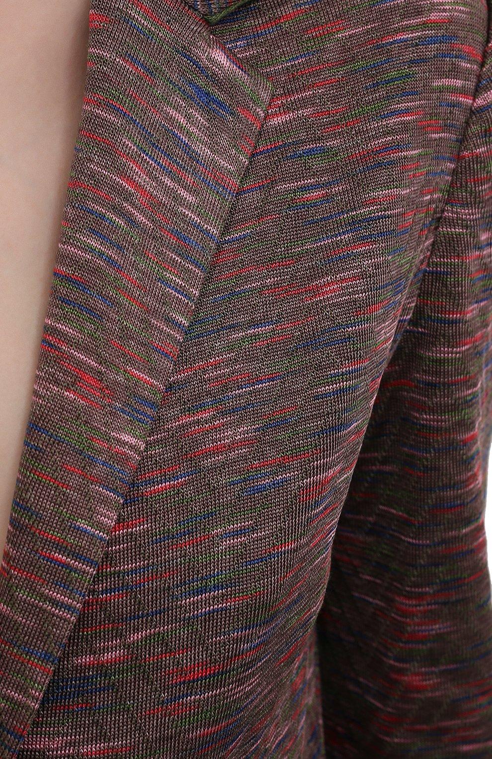 Женский жакет из вискозы и хлопка M MISSONI разноцветного цвета, арт. 2DF00078/2K008B | Фото 5 (Рукава: Длинные; Случай: Повседневный; Длина (для топов): Стандартные; Кросс-КТ: Трикотаж; Материал внешний: Хлопок, Вискоза; 1-2-бортные: Однобортные; Стили: Бохо; Женское Кросс-КТ: Жакет-одежда)